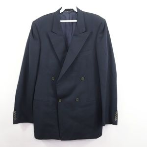 Canali Double Breasted Wool Suit Coat Jacket 42L